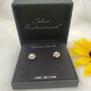 Sterling silver earrings jewelry accessories.